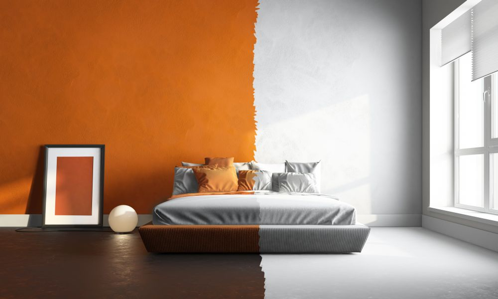 Ściana w dwóch kolorach